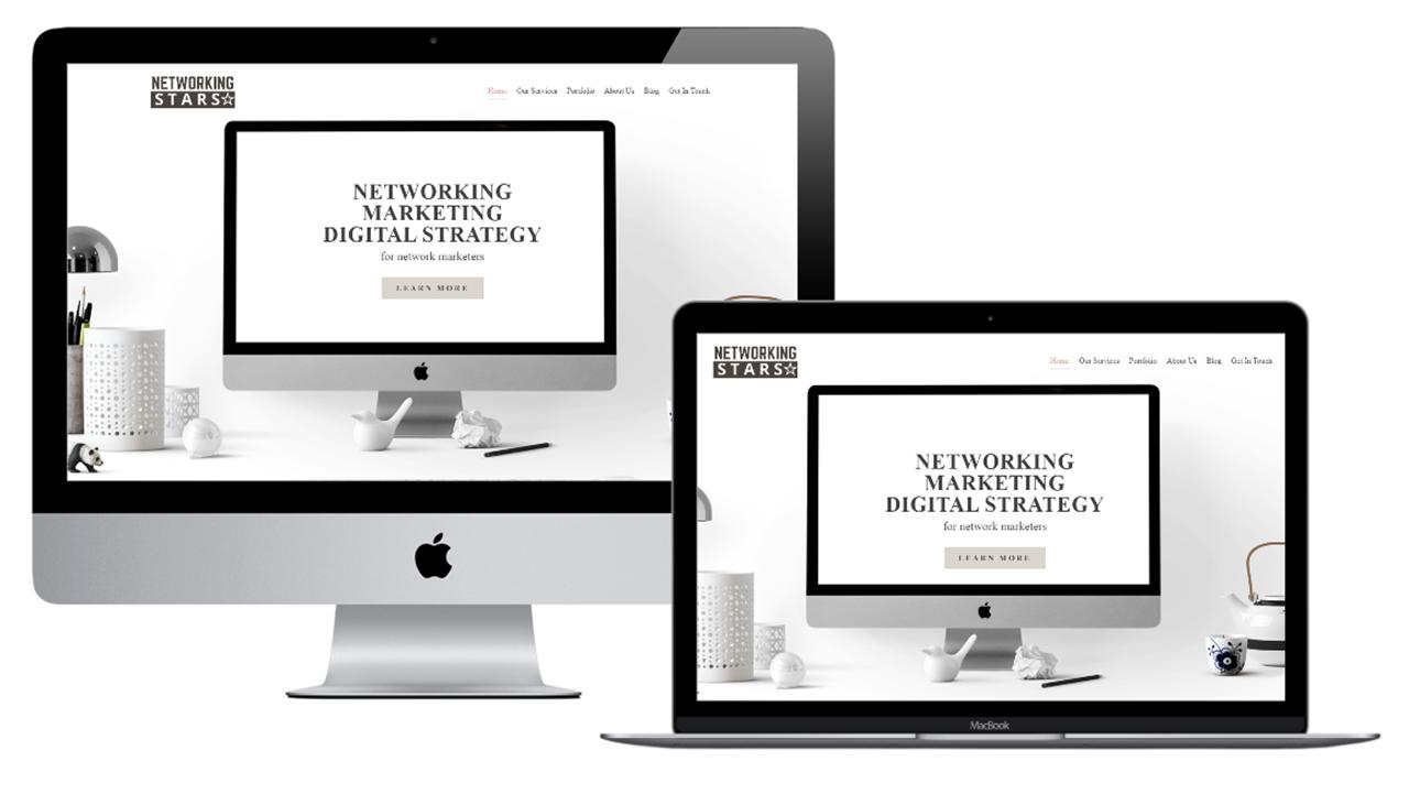 network marketing star website portfolio